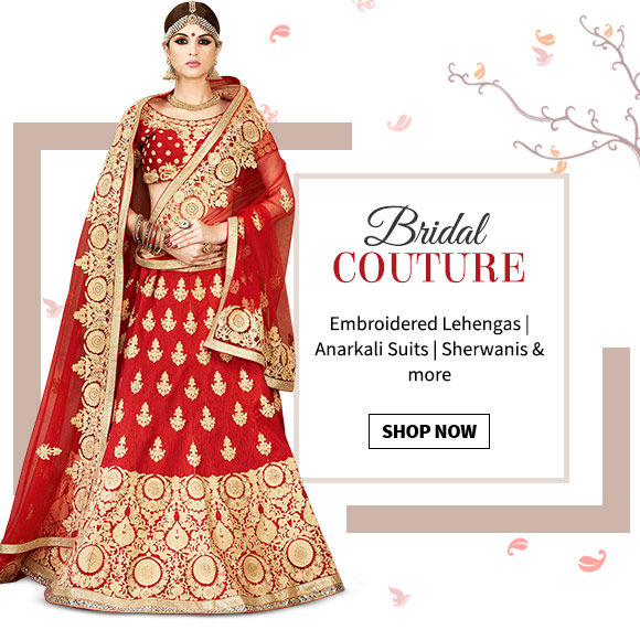 Up to 30% on the Bridal wear. Shop Now!
