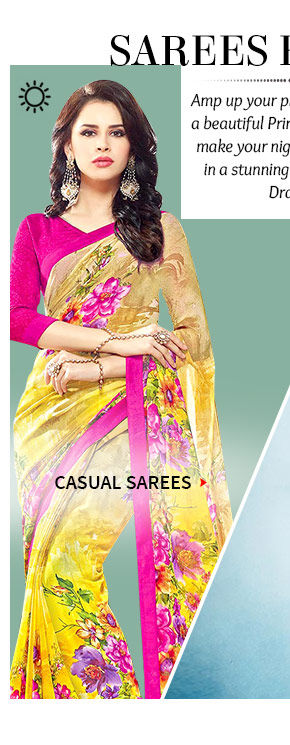 A gorgeous repertoire of Contemporary Sarees. Buy Now!