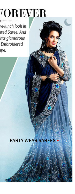 A gorgeous repertoire of Party Sarees. Buy Now!