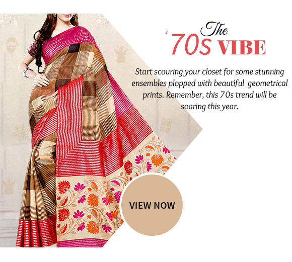 Gorgeous Sarees, Salwar Kameez, Lehenga Cholis & more with floral, geometrical & check prints. Buy Now!