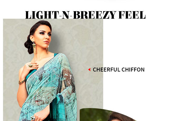 Abstract Printed Chiffon Sarees, Salwar Suits, Indo-western & Kidswear. Buy Now!
