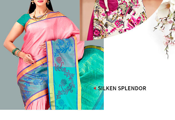 Abstract Printed Silk Sarees, Indo-western, Blouses & Indo-western. Buy Now!