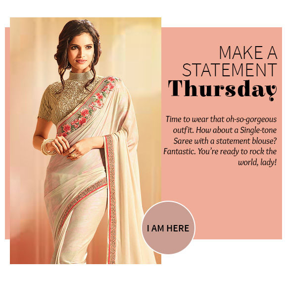 Our gorgeous collection of Plain Sarees. Buy Now!
