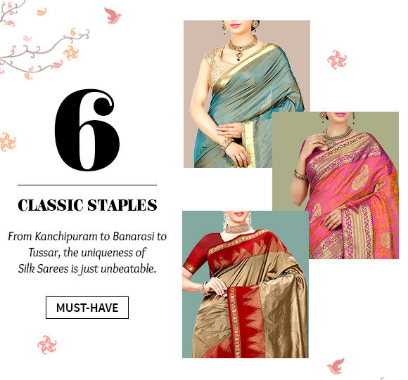 Beautiful repertoire of Silk Sarees. Buy Now!