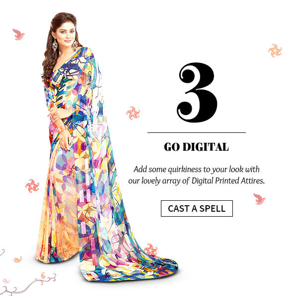 Digital Printed Sarees, Salwar Suits, Kidswear & more. Buy Now!