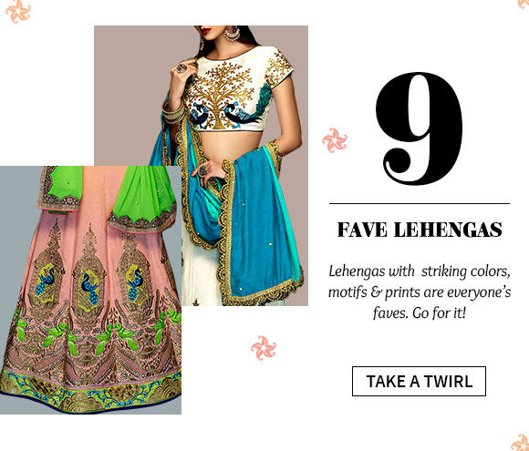 Shop the beautiful Lehenga Cholis.