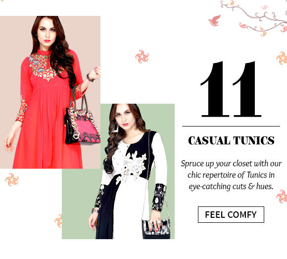 Shop the versatile range of Tunics.