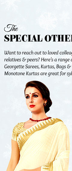 Bags and printed georgette sarees, jewelry and more for relatives & female colleagues under $50. Shop!