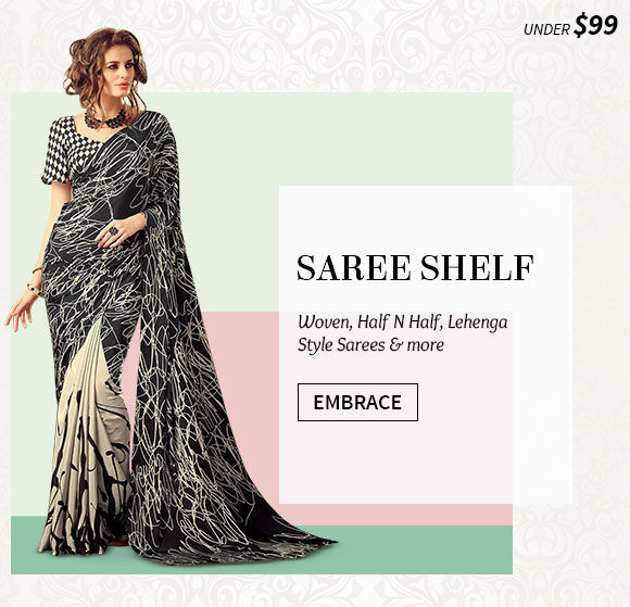New Arrivals in Sarees under $99. Shop Now!
