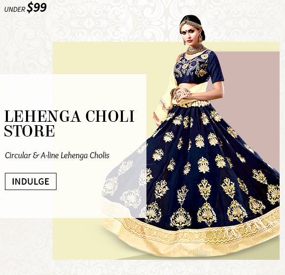 New Arrivals in Lehenga Cholis under $99. Shop Now!