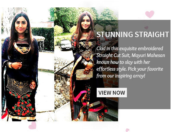 A myriad of beautiful Embroidered Striaght Cut Suits. Shop Now!