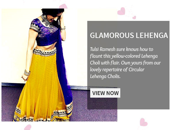 A lovely range of Circular Lehenga Cholis in Net fabric. Shop Now!