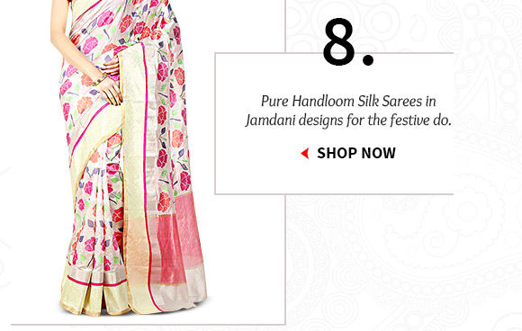 A myriad of Pure Handloom Silk Sarees. Buy Now!