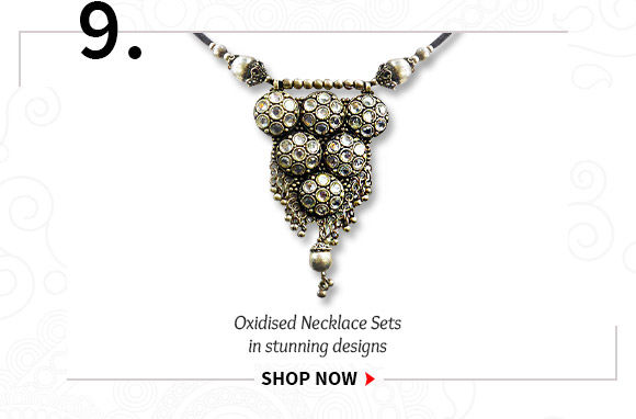 Select from our beautiful range of Oxidised Necklace Sets. Shop Now!