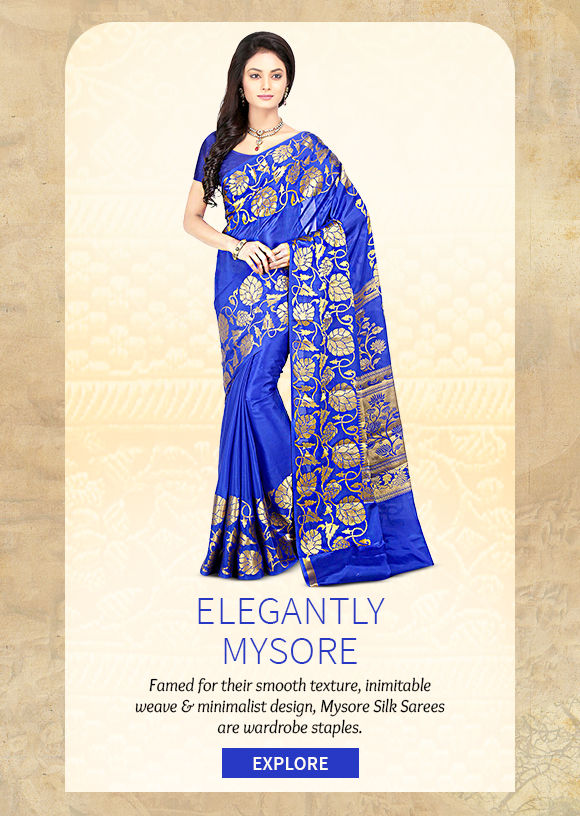 A lovely Collection of Mysore Silk Sarees. Buy Now!