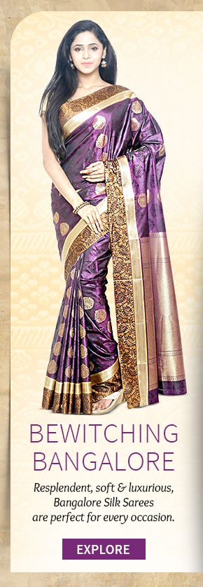 Choose from our lovely collection of Bangalore Silk Sarees. Buy Now!