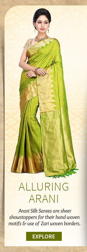 A beautiful repertoire of Arani Silk Sarees. Buy Now!