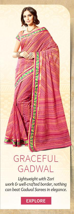 A beautiful repertoire of Gadwal Sarees. Buy Now!