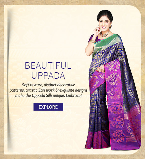 A gorgeous collection of Uppada Sarees. Buy Now!