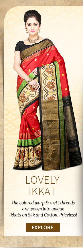 A lovely range of Pochampally Ikkat Sarees. Buy Now!