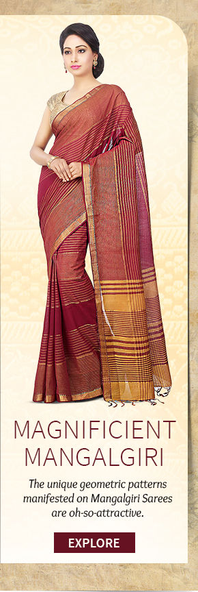 Select from our lovely range of Mangalgiri Sarees. Buy Now!
