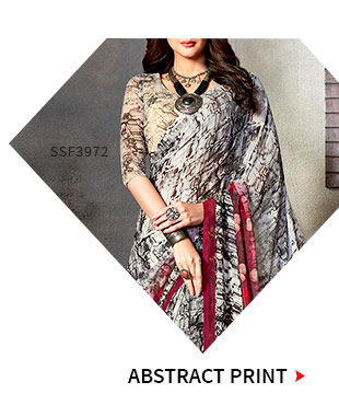 Casual Sarees, Suits and Indo Westerns in Abstract Print. Shop!