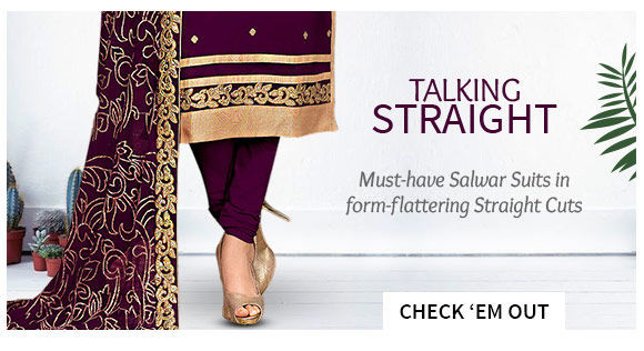Straight Cut Salwar Suits with embroidery and myriad hues.. Shop!