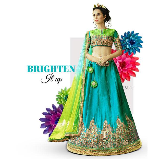 Bright hued attires. Shop!