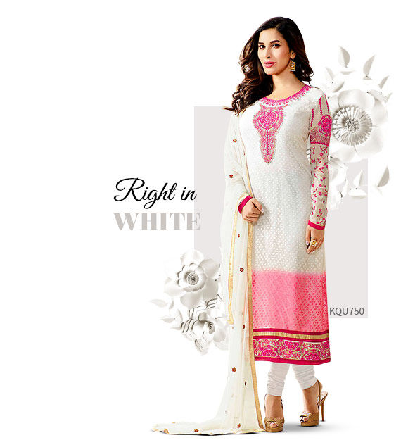 Salwar Suits in White. Shop!