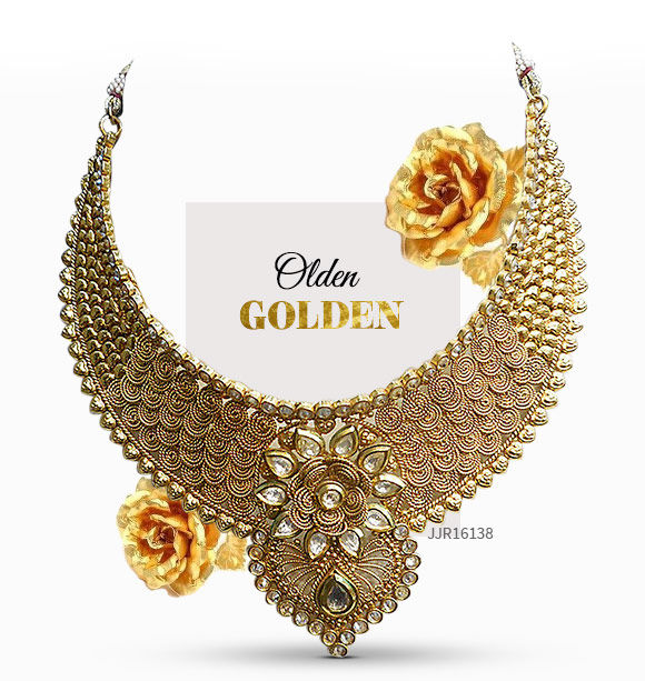 Golden colored Jewelry. Shop!