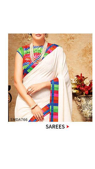 Sarees in neutral tones. Shop!