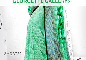 Georgette Sarees with work and print. Shop!