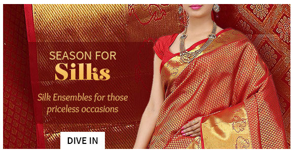 Sarees ,Salwar Suits, Lehengas & more in Pure Silk. Shop!