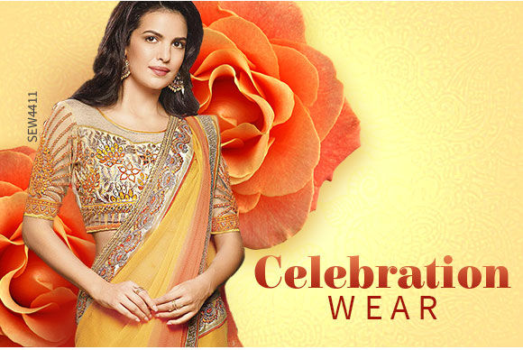 Festive collection of Sarees, Suits, Lehengas and more. shop!