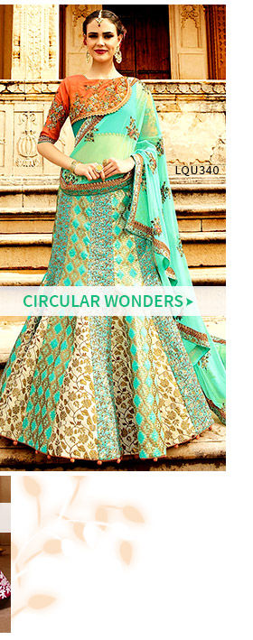 Circular Lehengas for brides and weddings. Shop!