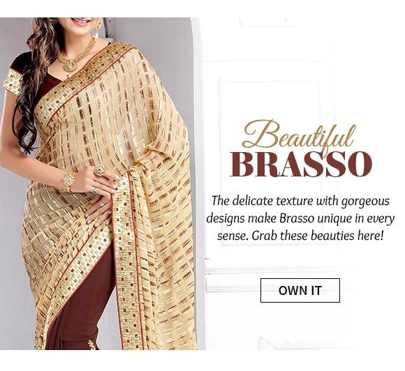 Up to 70% Off on our Brasso Sarees, Salwar Suits, Indowestern & Kidswear. Buy Now!