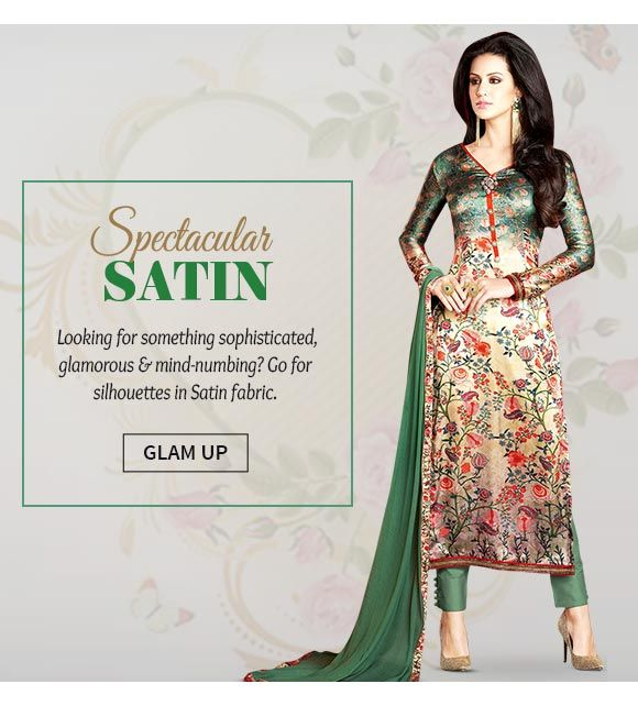 Up to 70% Off on our Satin Sarees, Salwar Suits, Blouses & more. Buy Now!