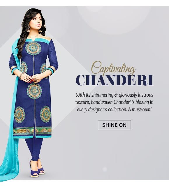 Up to 70% Off on Chanderi Salwar Suits, Lehengas, Blouses & more. Buy Now!