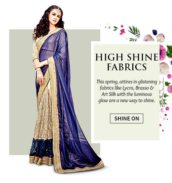 A lovely range of Attires in Metallic fabrics. Buy Now!