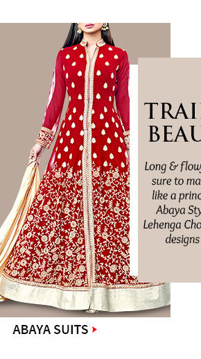 Choose from our beautiful array of Abaya Style Suits. Buy Now!