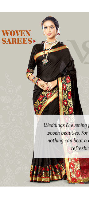 Explore the heritage Woven Sarees. Buy Now!