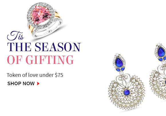 Shop Necklace, bangles, rings and more for gifting under $75. Shop Now!