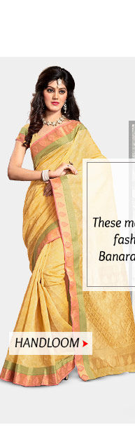 Pick your favorite from our exquisite range of Handloom Sarees. Buy Now!