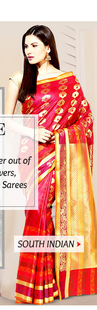 Pick your favorite from our exquisite range of South Silk Sarees. Buy Now!