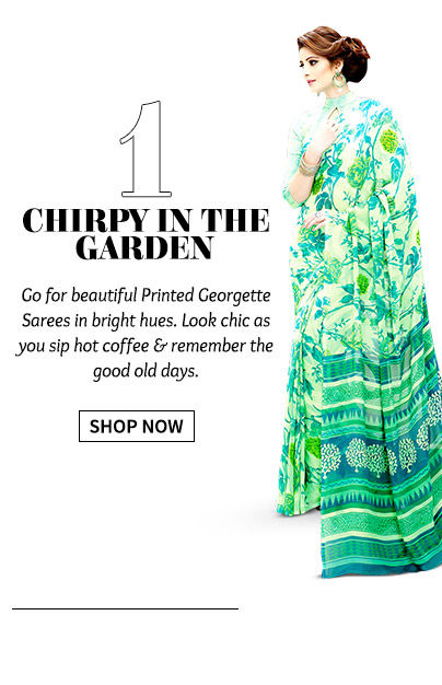 A wide range of Printed Georgette Sarees. Buy Now!