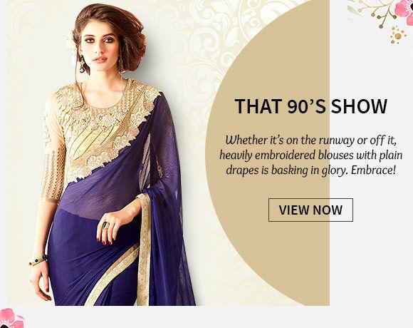 An inspiring range of Plain Sarees. Buy Now!
