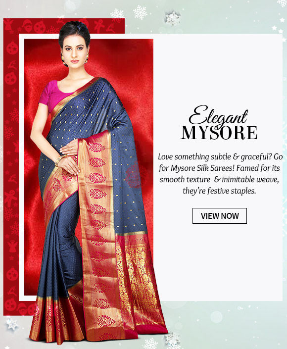 A beautiful collection of Mysore Silk Sarees. Buy Now!