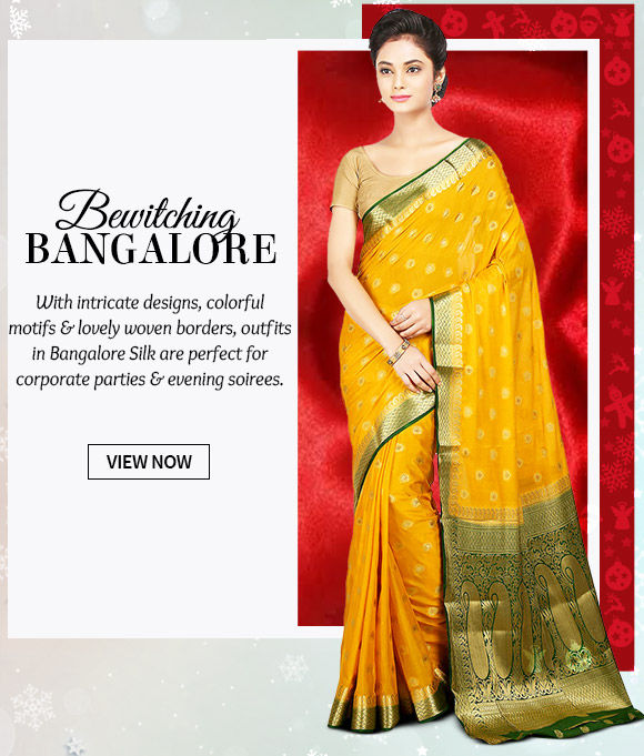 Choose from our lovely collection of Attires in Bangalore Silk. Buy Now!