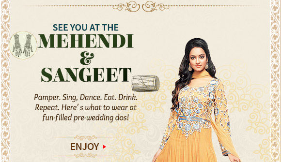 Mehendi & Sangeet Closet. Shop Now