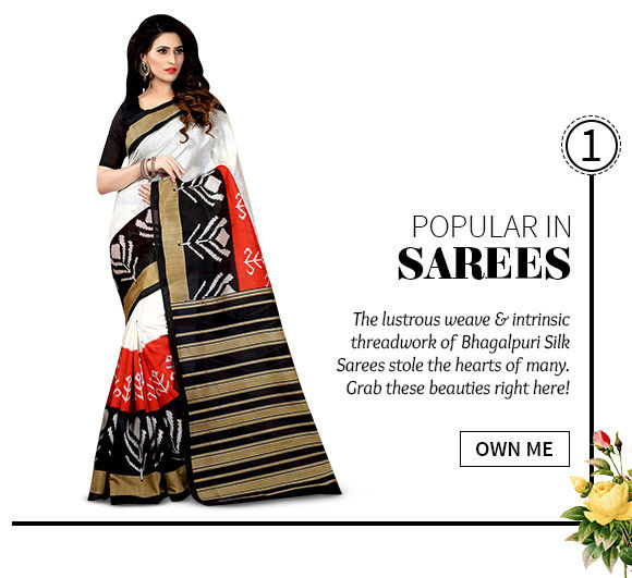 best-selling Bhagalpuri Sarees. Shop Now!